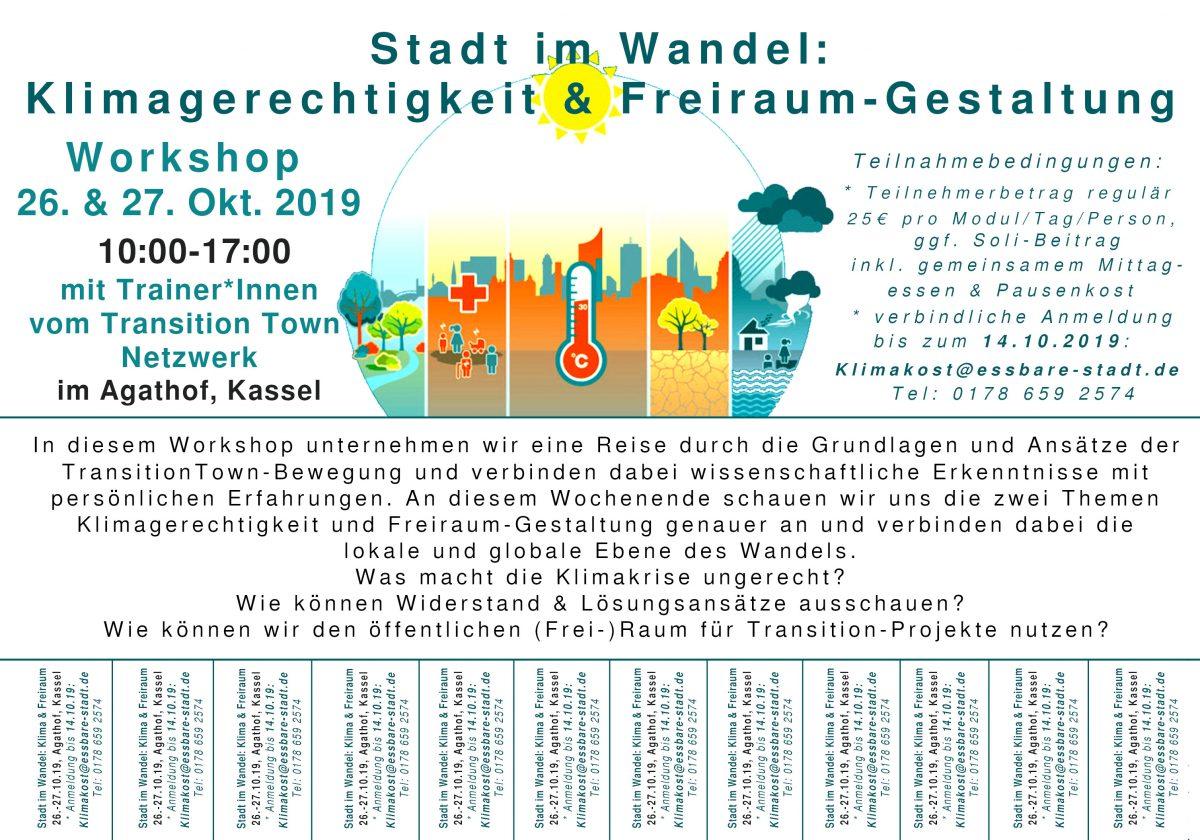 26./27.10. Stadt im Wandel, Klimagerechtigkeit & Freiraum-Gestaltung: Kassel